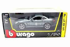 BBURAGO  MERCEDES BENZ SL500 GREY  1/24 DIECAST CAR 21067