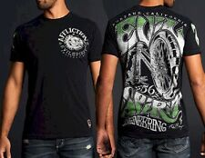NEW Affliction Evil Spirit Shirt Black Lava Wash Authentic UFC S