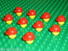Casque chantier LEGO minifig Construction helmet 3833 / sets 7633 6390 6383 6542