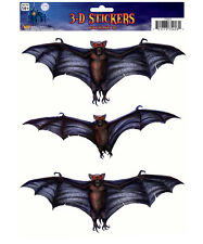 Set Of 3-D Bat Window Stickers Halloween Decoration