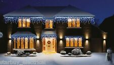 PREMIER 240 Led Blu & Bianco snowing Icicles supabrights, luci di Natale