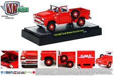 M2MACHINES 1:64 SCALE DIECAST METAL RED 1958 GMC SMALL WINDOW STEP SIDE TRUCK