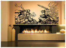 Wall Room Decor Art Vinyl Decal Sticker Mural Spawn Angel Fight Large Big AS413