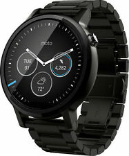 NEW Motorola 00904NARTL 2nd Gen Smart Watch Smartwatch Moto 360 Black SS 46mm