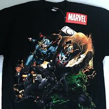 Marvel Avengers T-Shirt Symbiote Spiderman America Thor Hulk Marvel Men's Large