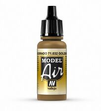 VALLEJO AIRBRUSH PAINT - MODEL AIR - GOLDEN BROWN 17ML - 71.032