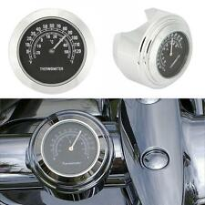 Chrome Handlebar Mount Thermometer For Harley Dyna Super Glide FXDWG Low Rider