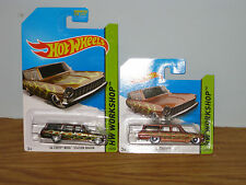 hotwheels super treasure hunt - 64 chevy nova station wagon & standard chevy nov