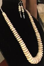 Native American Buffalo Turquoise Necklace W/ Matching Earrings Positive Energy
