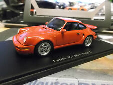 PORSCHE 911 964 Turbo S 3.3 red rot Spark Resin Highenddetail 1:43