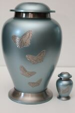 ELEGANT ADULT BRASS BUTTERFLY CREMATION URN NEW URNS WITH A FREE KEEPSAKE
