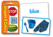Trend Kids Shapes & Colours Pocket Flash Cards Ideal For Teachers & Parents