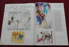 1980 Magazine Article Cockfighting in the Philippines w/ Leroy Neiman ART