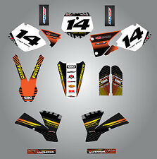 KTM 125 SX 2001 - 2002 Full  Custom Graphic  Kit -FACTORY STYLE stickers/decals