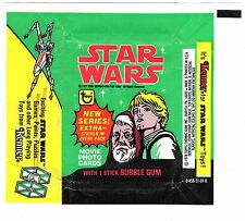 TOPPS GUM-WAX WRAPPER-STAR WARS SERIES-1977-LUKE SKYWALKER-OBIWAN KENOBI