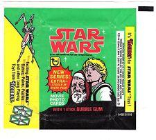 TOPPS GUM-WAX WRAPPER-STAR WARS SERIES-1977-LUKE SKYWALKER-OBIWAN KENOBI