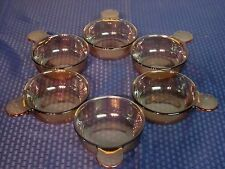 """Set of 6 Corning Ware V-150-B """"Grabit"""" Bowls. Clear Amber. Excellent. (P-150-B)"""