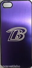 NFL Baltimore Ravens Etched Logo iPhone 5 5s Brushed Metal Phone Case