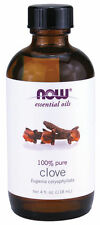 NOW FOODS Clove Essential Oil 4 oz Liquid Bottle For Burners & Diffusers