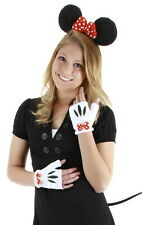 Minnie Mouse Ears Tail Hands Polka-Dotted Bow Licensed Costume Accessory Kit NEW