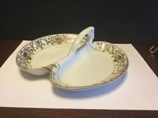 Noritake Christmas Ball 175/16034 Handled 2 Part Relish Tray