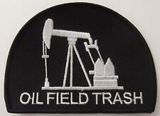 OIL FIELD TRASH PATCH - DRILLING RIG - BRAND NEW BLACK AND WHITE VEST PATCH