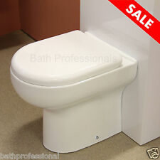 Toilet WC Bathroom Back to Wall Ceramic Square Short Project Soft Close Seat B7
