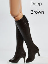 """16""""Tonner Doll Ellowyne Wilde/Antoinette Deep Brown Shoes/Boots Sherry(16-EB-9"""