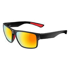 RockBros Cycling Polarized Full Frame Bicycle Glasses Goggles Black Red Glasses