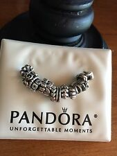 ��% Authentic Pandora ALE 925 Sterling Silver (13) Spacer Charms Bracelet