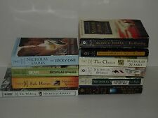 Nicholas Sparks 10 Book Softcover Lot Romance Novels