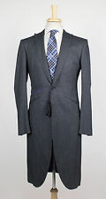New OZWALD BOATENG Gray Nailhead Wool Blend Frock Sport Coat 48/38 R $1750