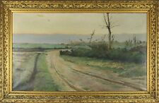 D3-060. RURAL LANDSCAPE. OIL ON CANVAS. LUIS RAFOLS OLIVELLA. XIX CENTURY.