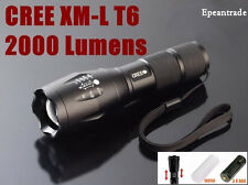 Mini 2000 Lumen Zoomable Cree XML T6 LED Flashlight Focus Torch Zoom Lamp Light