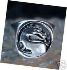 New Heavy Mortal Kombat Ring Dragon Sterling silver 925  Jewelry X
