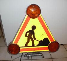 Grand panneau lumineux clignotant  TRAVAUX Design Industriel Loft Vintage