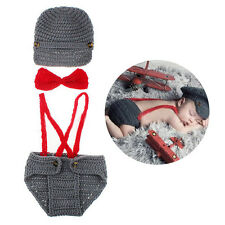 Crochet Baby Hat Diaper Set Boy Set Baby Knitted Photo Photography Props Hat