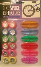 18 pc BIKE SPOKE REFLECTORS BICYCLE CYCLE EASY SEEN COLOURFUL GIFT Easy Seen UK