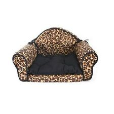 Leopard Print Mini Sofa PET BED Couch Design with Cushion For Dog Cat Puppy