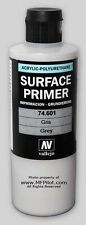 GREY SURFACE PRIMER - Vallejo Premium Model Acrylic 200ml Economy Bottle #74601
