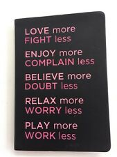 """New Journal Diary """"Love more, Fight less...""""  5.75 X 8.25"""" Semi hard back cover"""