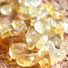 Tumbled Gemstone Crystal Citrine Chip Stone 5g With Holes DIY Hand Craft