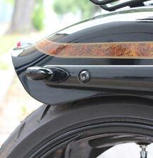 Blinker Montageplatten schwarz für Harley Davidson