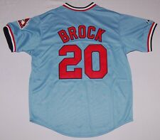 LOU BROCK ST. LOUIS CARDINALS MAJESTIC COOPERSTOWN COLLECTION SEWN JERSEY M