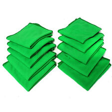 10pc Cleaning Cloth Towel Auto Car Detailing Micro Fiber Duster Wash Green Color