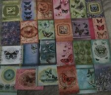 24 HUNKYDORY  A6 JEWELLED BUTTERFLIES ASSORTED TOPPERS/IMAGES