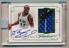 2014-15 Flawless * SHAQUILLE O'NEAL * On Card Autograph Patch * EMERALD * #3/5