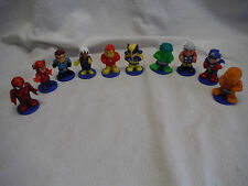 MARVEL AVENGERS MINI 2 PIECE ACTION FIGURE LOT OF TEN 2005 MGA HULK THING 2 INCH