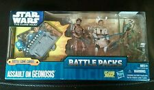 New 2011 Star Wars The Clone Wars Battle Packs Assault On Geonosis 3Pack Figures