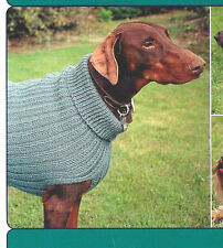 DANDY DOG SWEATERS by EVELYN CLARK for FIBER TRENDS - 3 PATTERNS IN 7 SIZES!!!